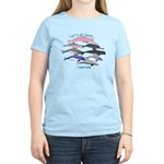 All Dolphins Lets Swim Together Women's Light T-Sh
