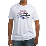 All Dolphins Lets Swim Together Fitted T-Shirt