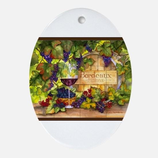 Best Seller Grape Ornament (Oval)