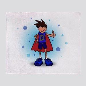 Brunette D-Boy with Insulin Pen Throw Blanket