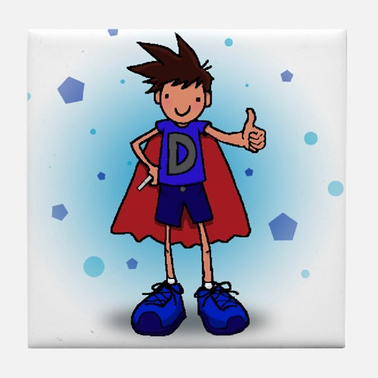 Brunette D-Boy with Insulin Pen Tile Coaster