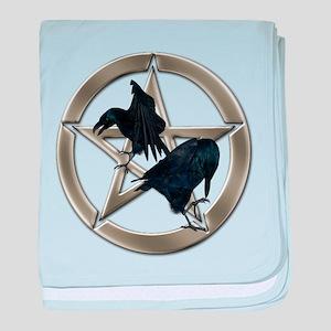 Silver Raven Pentacle baby blanket