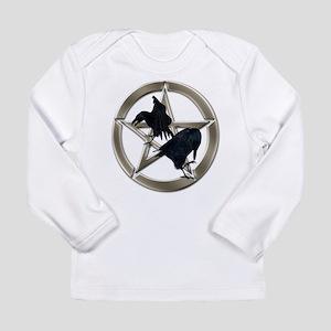 Silver Raven Pentacle Long Sleeve Infant T-Shirt