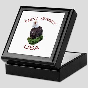 New Jersey, USA...Screaming Bald Eagle Keepsake Bo