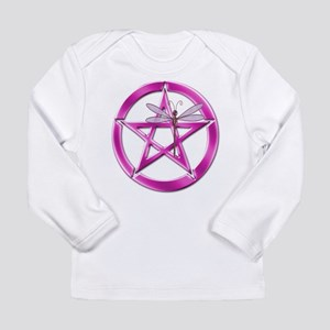 Pink Pentacle Dragonfly Long Sleeve Infant T-Shirt
