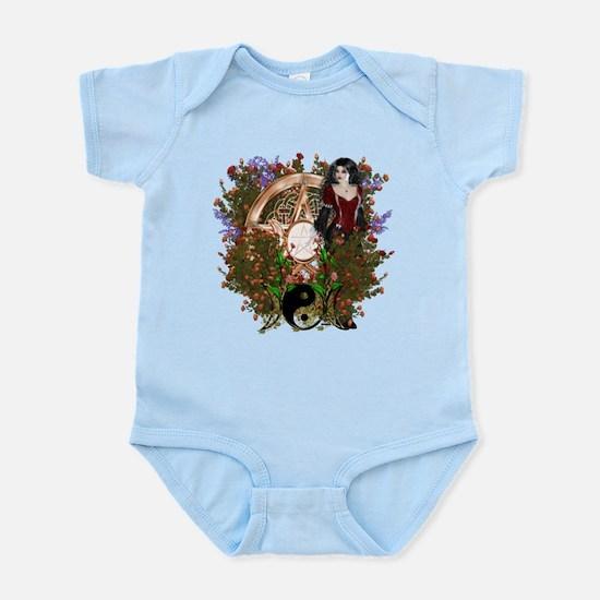 Summer Solstice Wicca Pentacle Infant Bodysuit