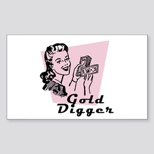 Gold Digger Rectangle Sticker