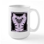 Large Fractal Kitty Mug