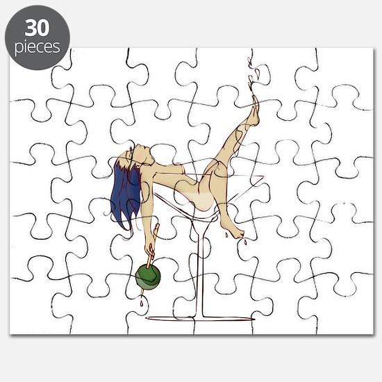 Sexy Martini Pinup Puzzle
