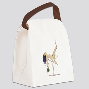 Sexy Martini Pinup Canvas Lunch Bag