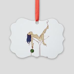 Sexy Martini Pinup Picture Ornament