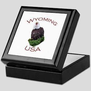 Wyoming, USA...Screaming Bald Eagle Keepsake Box