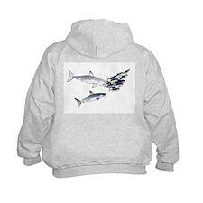 Two White Sharks ambush Tuna Kids Hoodie