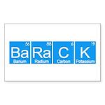 BaRaCK Sticker (Rectangle 50 pk)