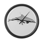 Frasers Striped Dolphin Large Wall Clock