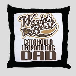 Catahoula Leopard Dog Dad Throw Pillow
