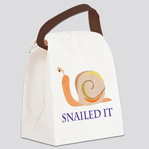 Snailed It Canvas Lunch Bag