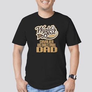 Cavalier King Charles Spaniel Dad Men's Fitted T-S