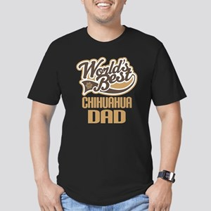 Chihuahua Dad Men's Fitted T-Shirt (dark)