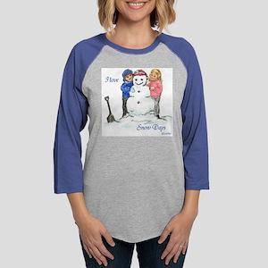 snowdazesquare01 Womens Baseball Tee