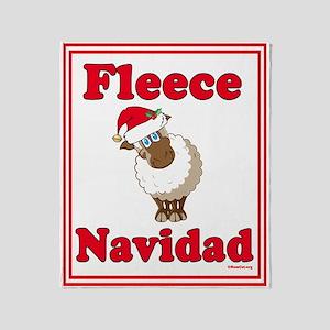Fleece Navidad Throw Blanket (red)