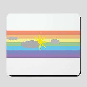cloudy rainbow Mousepad