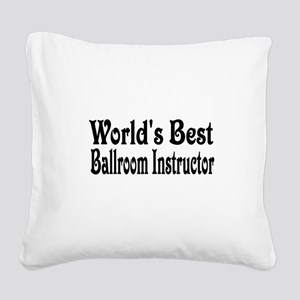 ballroom11 Square Canvas Pillow