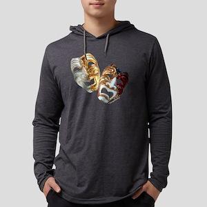 dramamasks2-plain-dark Mens Hooded Shirt