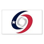 Texas Hurricanes Sticker (Rectangle 10 pk)