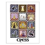 Chess Quilt Small Poster