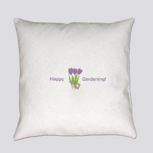 Cute Gardener Lilac Tulips Everyday Pillow