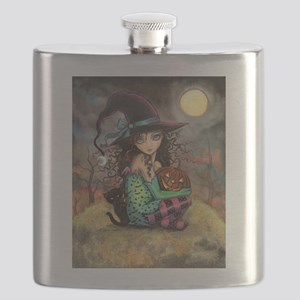 Halloween Hill Flask