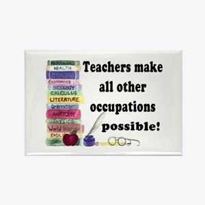 """Teacher Occupations"" Rectangle Magnet"