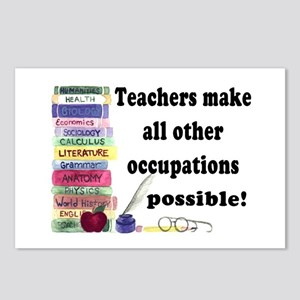 """Teacher Occupations"" Postcards (Package of 8)"