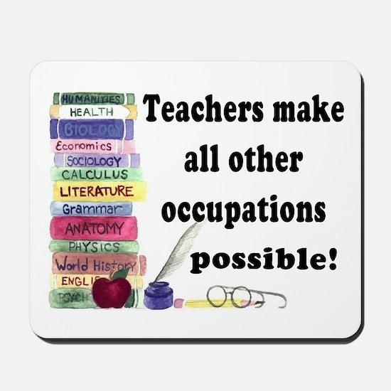 """Teacher Occupations"" Mousepad"