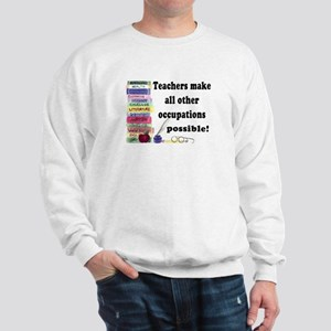 """Teacher Occupations"" Sweatshirt"