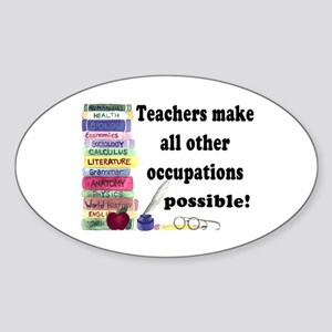 """Teacher Occupations"" Oval Sticker"