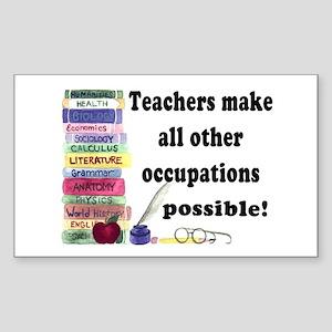 """""""Teacher Occupations"""" Rectangle Sticker"""