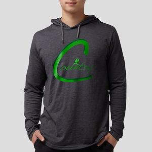 Country Handwritten Green Mens Hooded Shirt