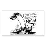 I Survived Hurricane Nat Sticker (Rectangle 10 pk)