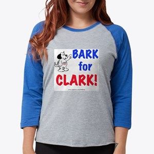 Bark for Clark Womens Baseball Tee