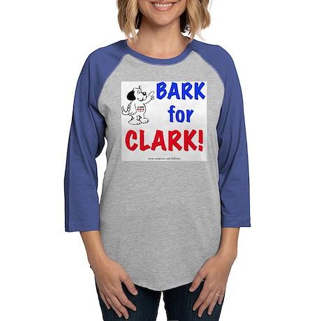 Bark for Clark Womens Baseball Tee