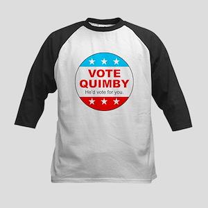 Vote Quimby Kids Baseball Jersey