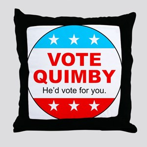 Vote Quimby Throw Pillow