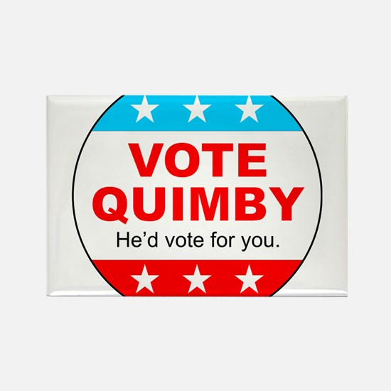 Vote Quimby Rectangle Magnet