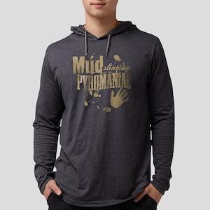 Mud Slinging Pyromaniac Mens Hooded Shirt