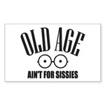 Old Age Sticker (Rectangle 10 pk)