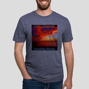 Lido Beach Florida Mens Tri-blend T-Shirt