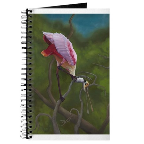 Roseate Spoonbill Wildlife Art Journal