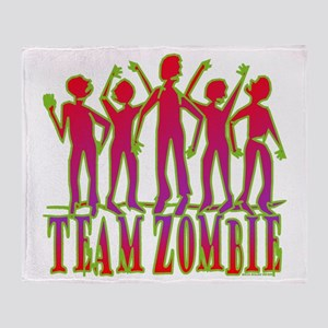 Team Zombie Throw Blanket